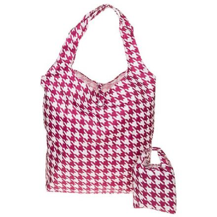Equilibrium Handybag Hounds Tooth in Pink